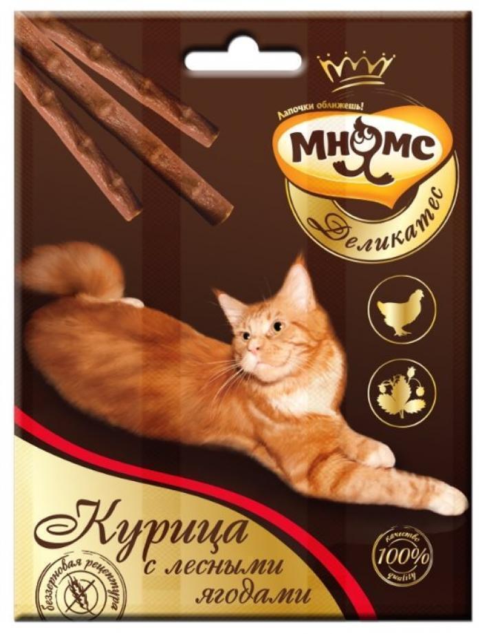 Мнямс лакомство для взрослых кошек всех пород, курица и лесные ягоды 14 гр, 2100100830