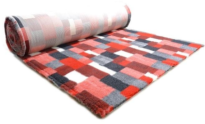 ProFleece коврик меховой В Клетку 35х50 см красный/угольный