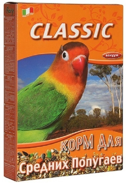 Fiory Classic корм для средних попугаев 400 гр