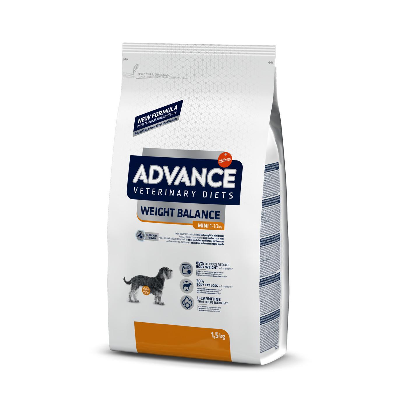 Advance корм для взрослых собак малых пород при ожирении 1,5 кг
