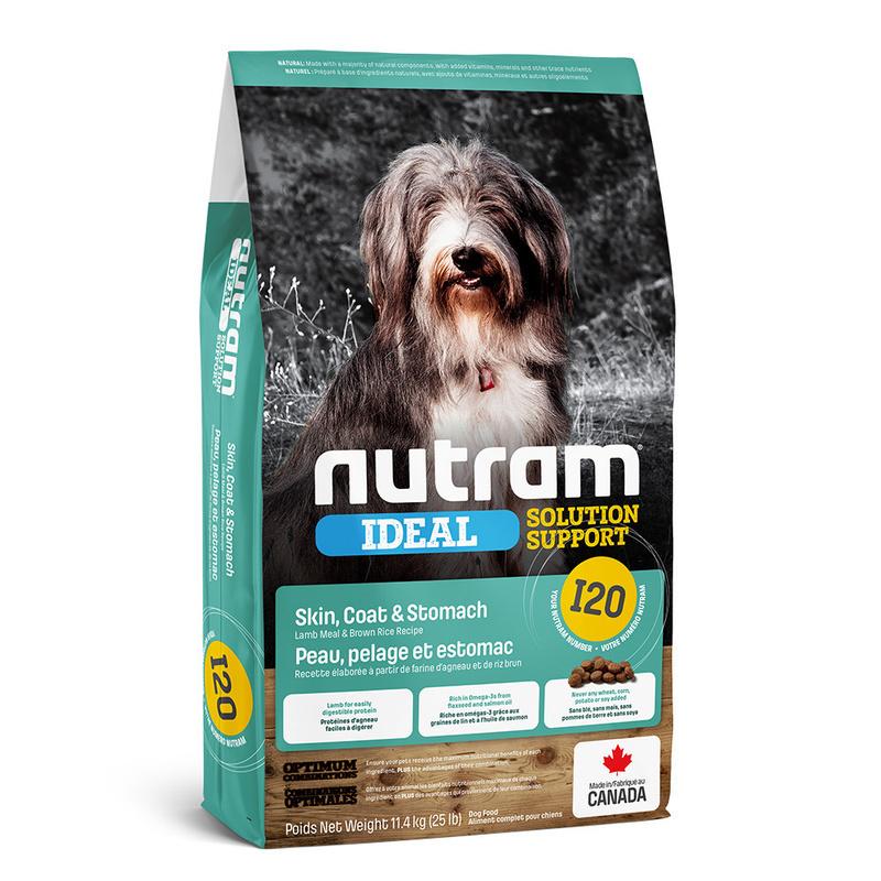 Nutram корм для взрослых собак всех пород с проблемами ЖКТ, кожи и шерсти 11,4 кг