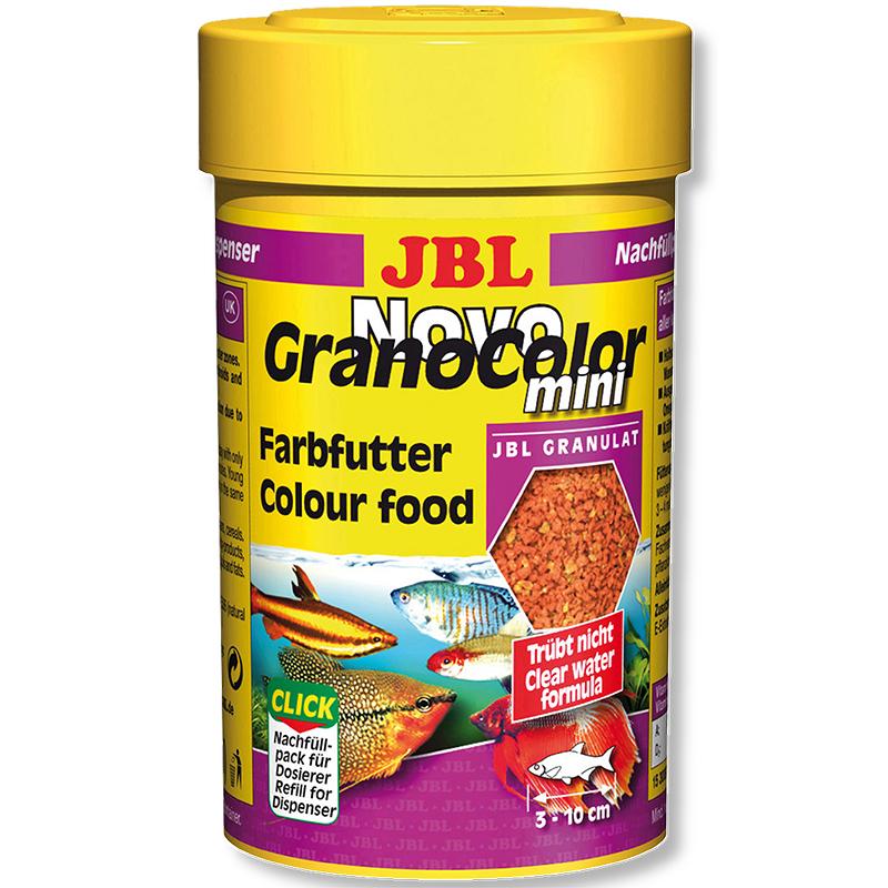 JBL  NovoGrano Color mini Осн.корм, гранулы, 100мл для ярк.окраски рыб
