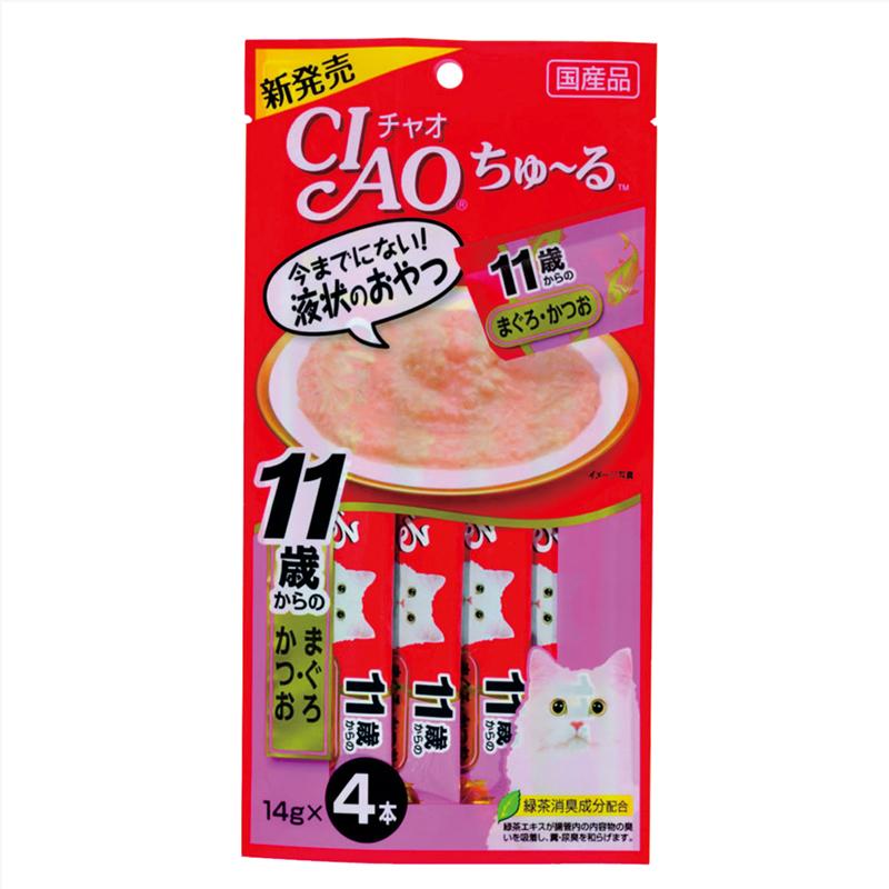 CIAO лакомство для кошек, профилактика МКБ и цистита, желтоперый тунец 56 гр