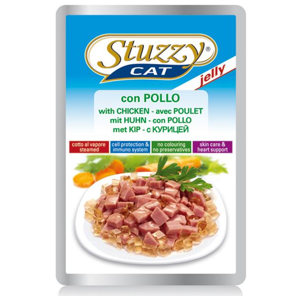 Stuzzy Cat влажный корм для взрослых кошек всех пород, с курицей в желе 100 гр
