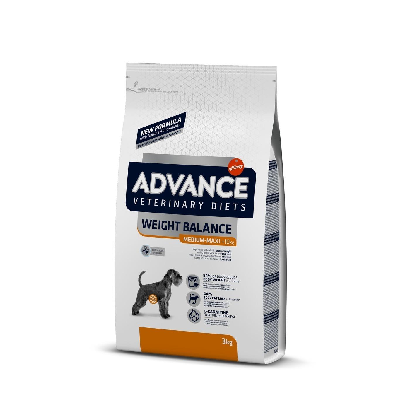 Advance корм для взрослых собак средних и крупных пород при ожирении 15 кг