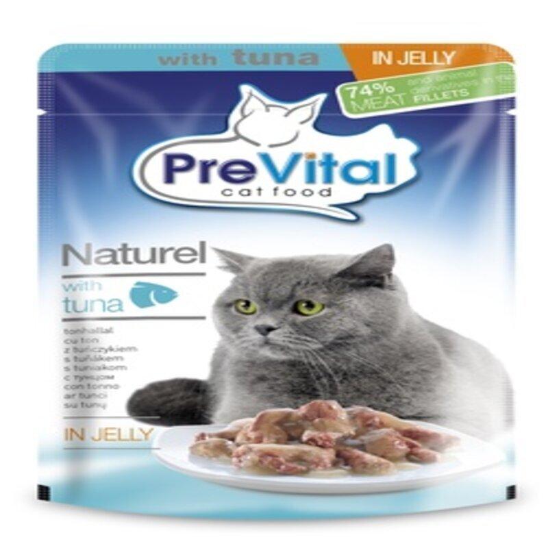 Превитал Натурель для кошек в желе с тунцом 85 гр. УПАКОВКА 28 шт.
