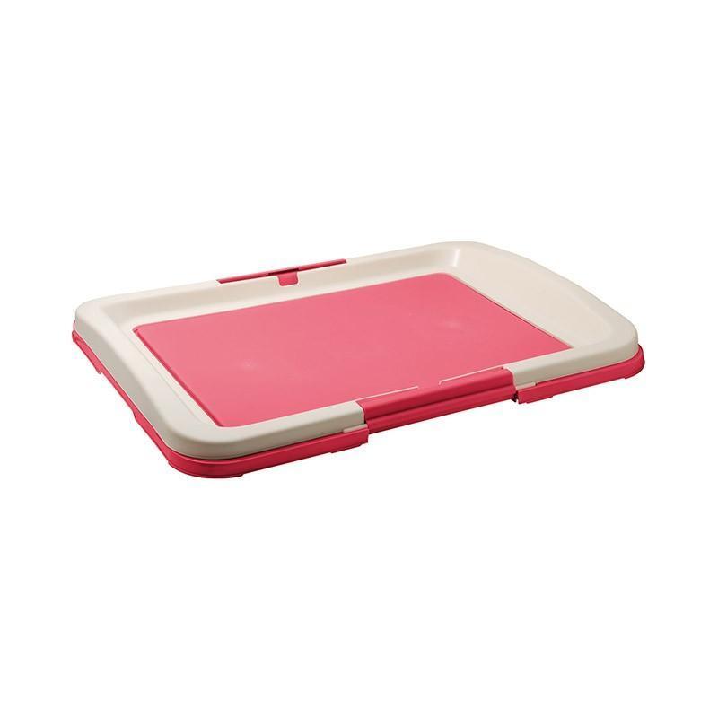 ZooOne туалет для собак (японский стиль) 48х35х6 см, розовый