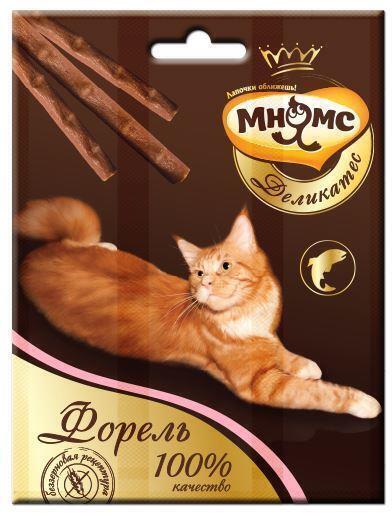 Мнямс лакомство для взрослых кошек всех пород, форель 17 гр, 2400100830