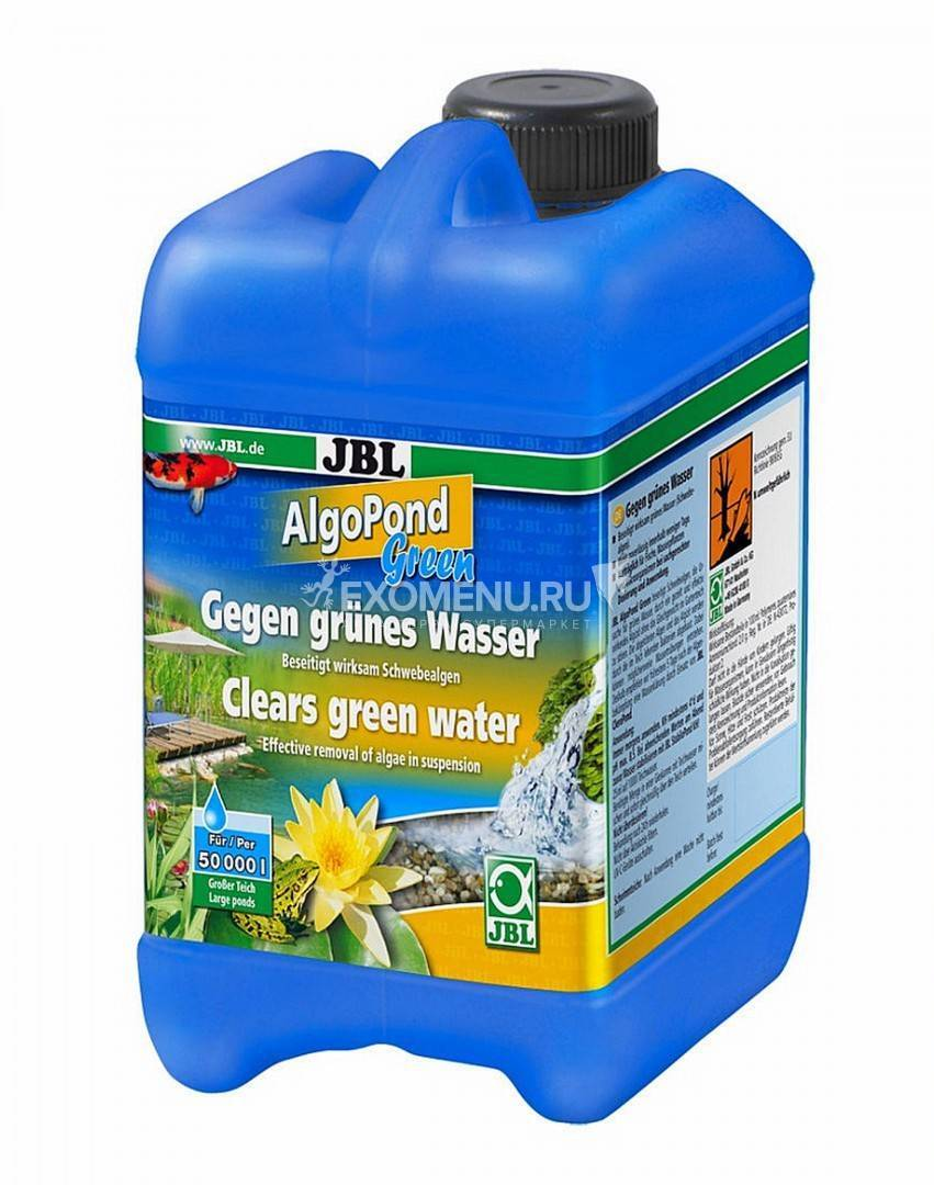 [282.2606600]  JBL Пр-т д/борьбы с плавающ. водорослями в садовых прудах, 2,5 л, на 50000 л, 282.2606600