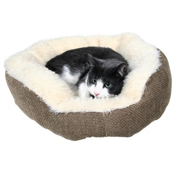 37041 Лежак для собаки Yuma 45см, белыйкоричневый
