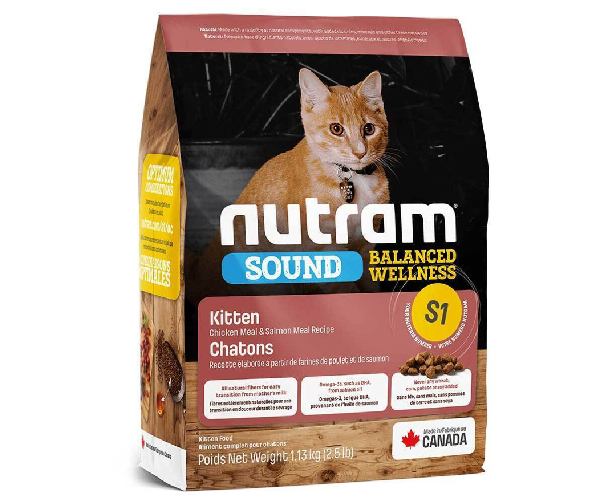 Корм Nutram CAT S1 Kitten Food  5,4кг для котят 170