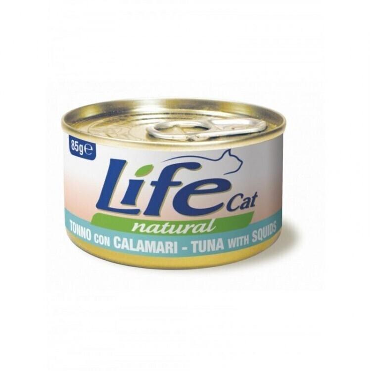 [94453]      Lifecat tuna with sole 85g - консервы для кошек тунец с камбалой в бульоне 85 гр. 1/24, 94453
