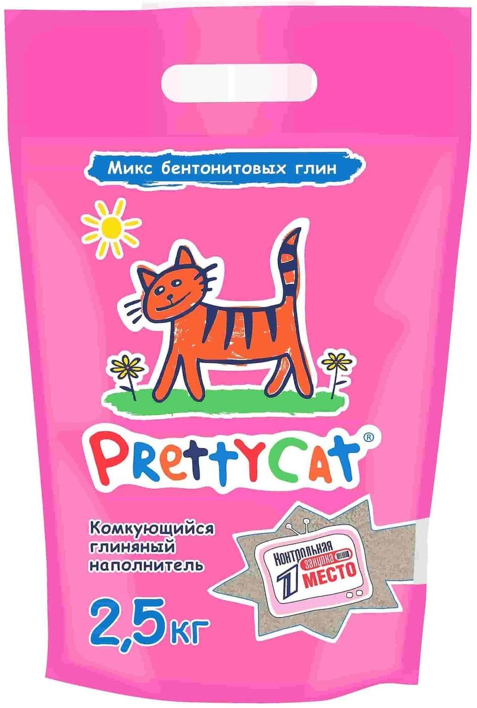 PrettyCat Euro Mix комкующийся наполнитель для кошачьих туалетов 2,5 кг