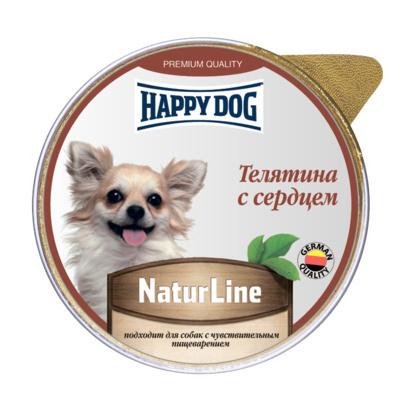 Happy Dog влажный корм для взрослых собак малых пород, телятина и сердце 100 гр