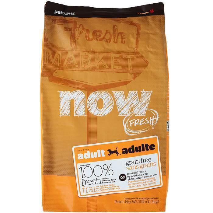 NOW Fresh корм для взрослых собак всех пород, беззерновой, индейка, утка и овощи 11,35 кг