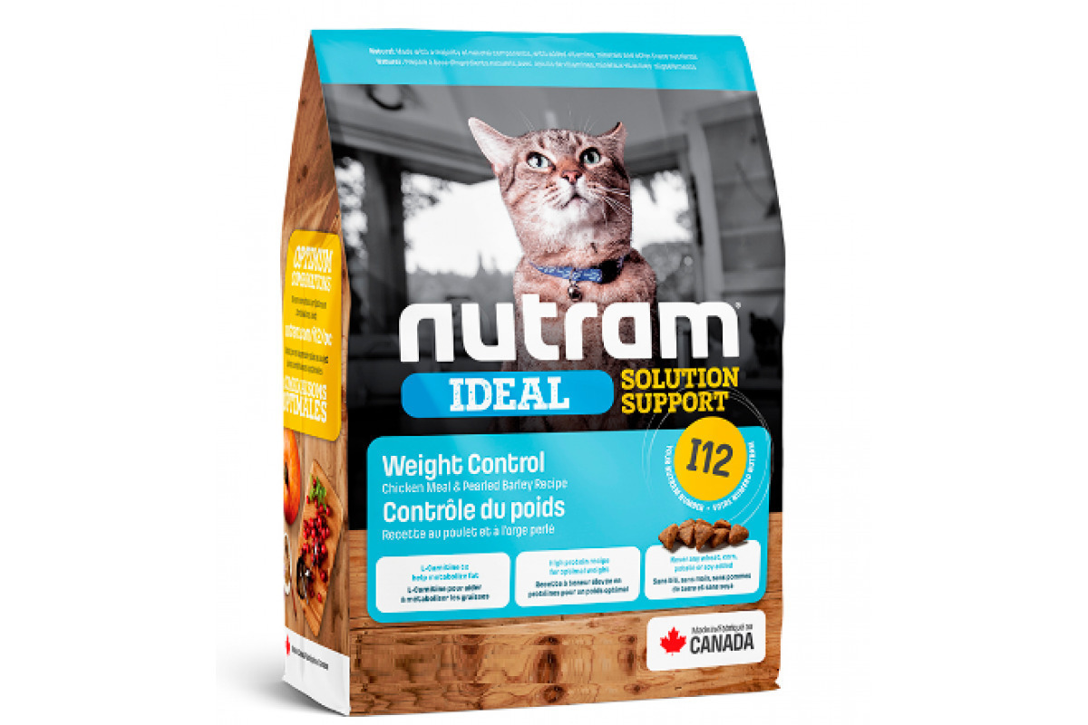 Корм Nutram CAT I12 Weight Control 5.4кг для кошек контроль веса  170