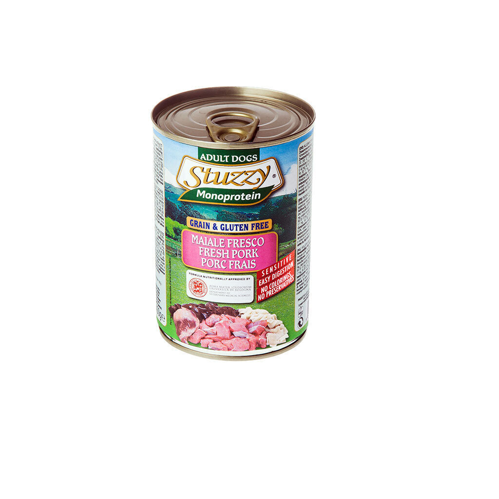 Stuzzy Monoprotein влажный корм для взрослых собак всех пород, свежая свинина 400 гр