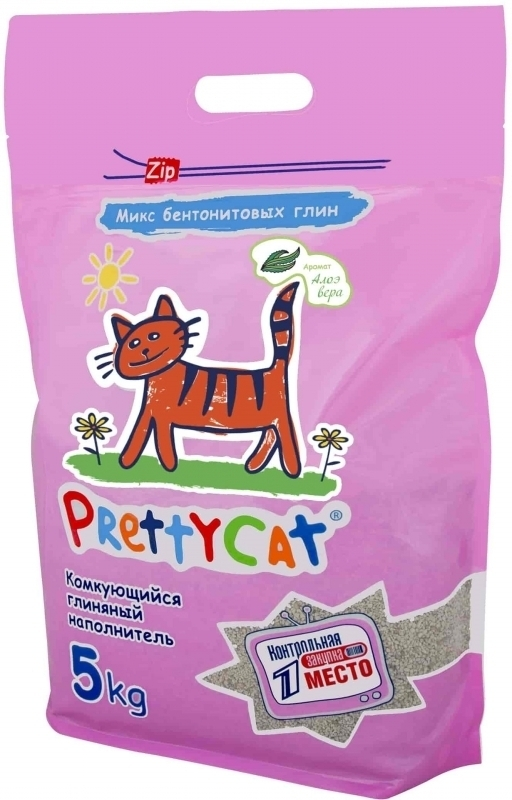 PrettyCat Euro Mix комкующийся наполнитель для кошачьих туалетов, с ароматом алоэ вера 5 кг
