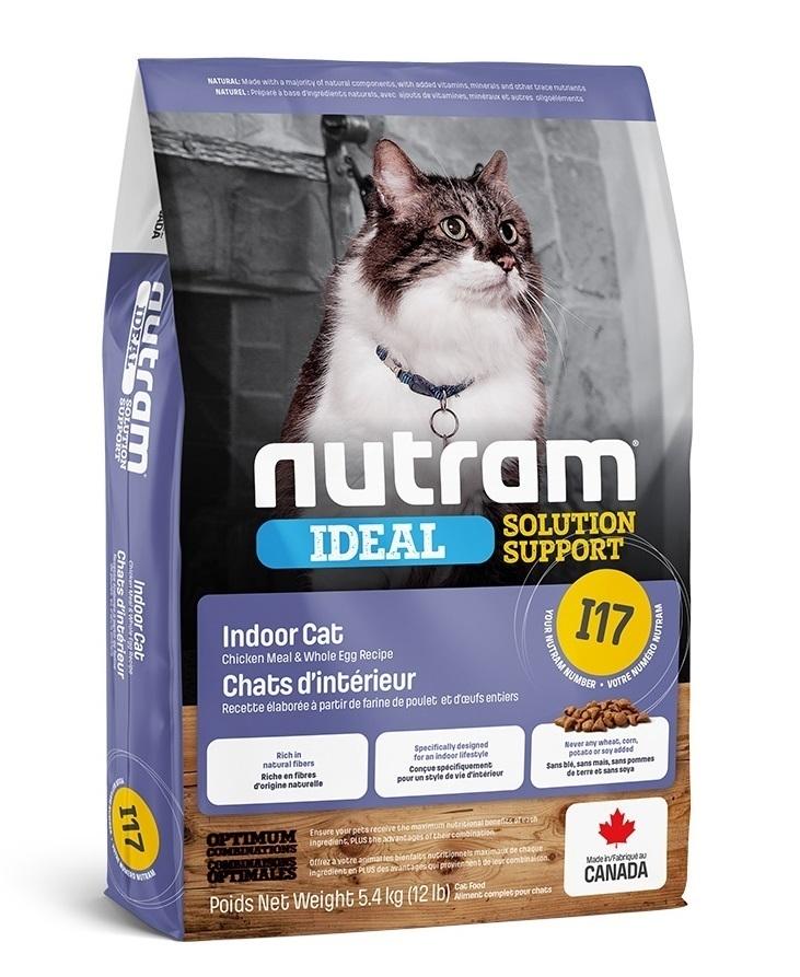 Nutram корм для взрослых кошек всех пород, живущих в помещении 5,4 кг