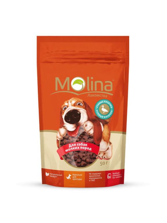 Molina лакомство для собак малых пород, утиные кусочки 50 гр