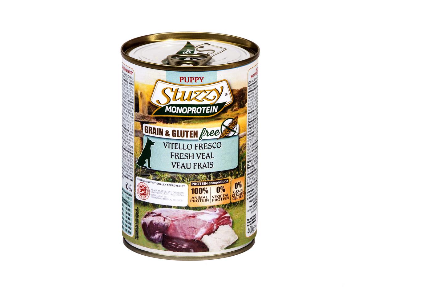 Stuzzy Monoprotein влажный корм для взрослых собак всех пород, свежая телятина 400 гр