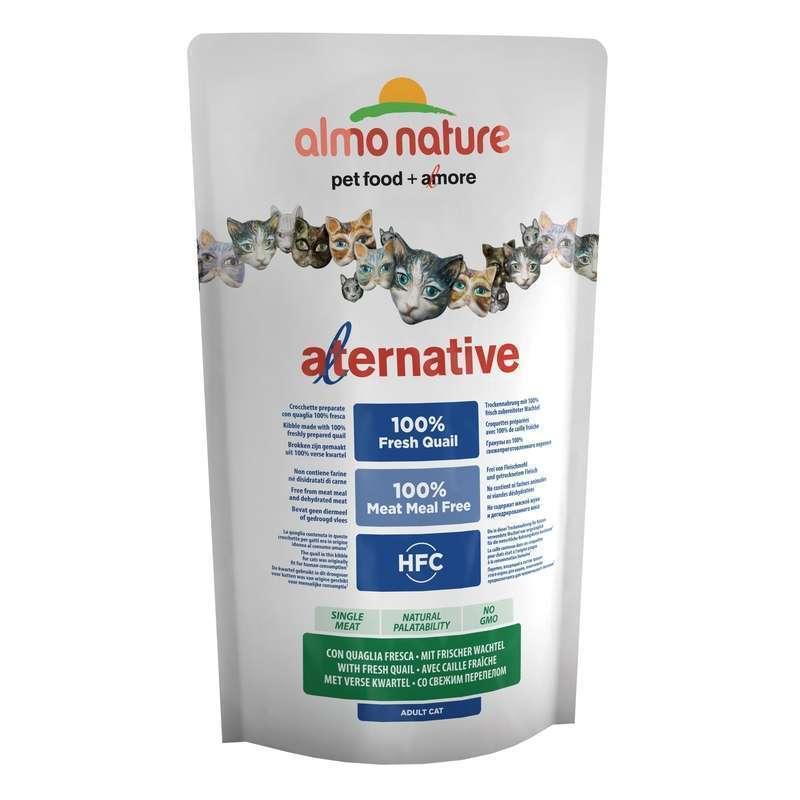Almo Nature Alternative ВИА Корм со свежей перепёлкой (50 % мяса) для кошек (HFC ALMO NATURE ALTERNATIVE CATS 750 G QUAIL) 7856, 0,750 кг, 33909
