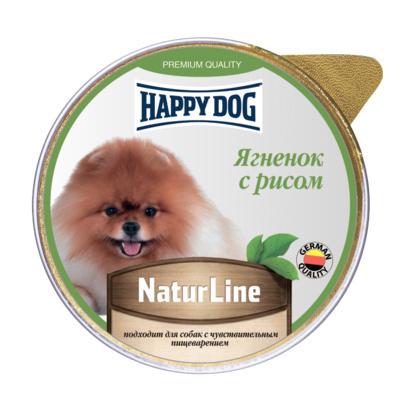Happy Dog влажный корм для взрослых собак малых пород, ягнёнок и рис 100 гр