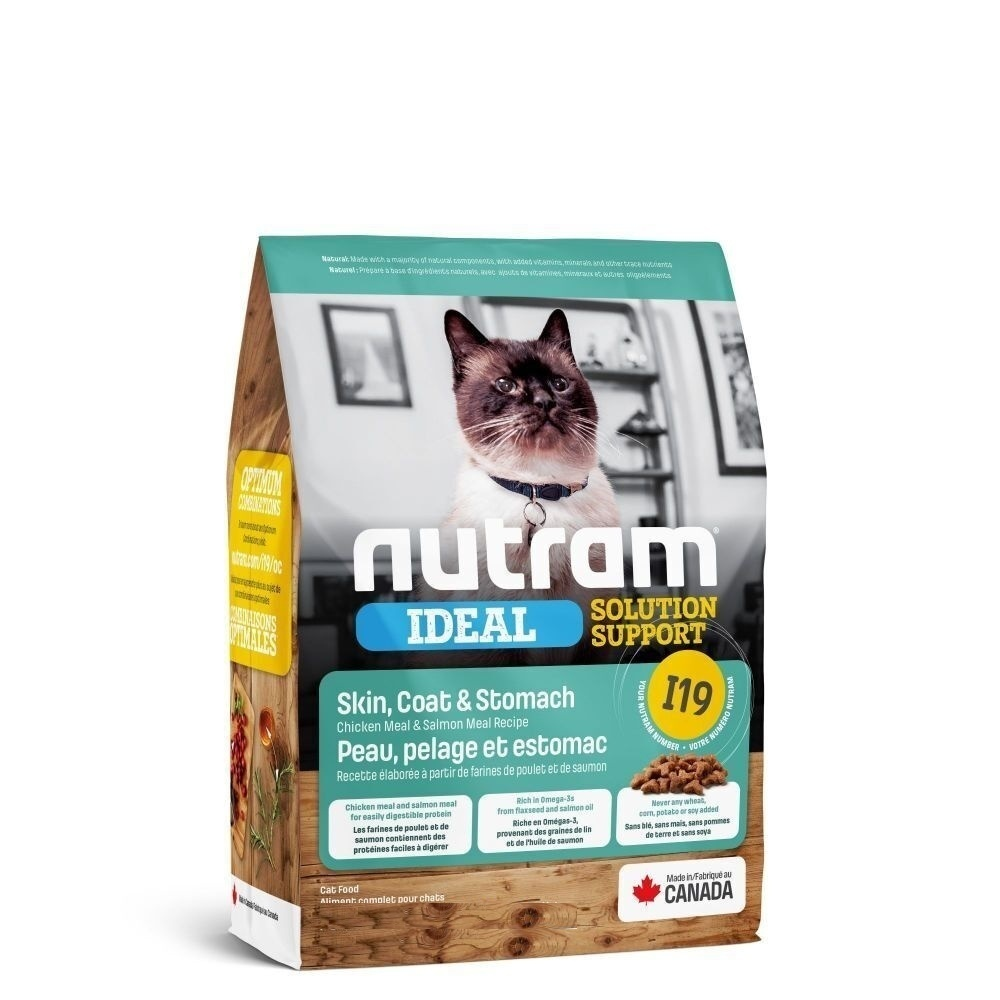 Nutram корм для взрослых кошек всех пород, чувствительное пищеварение 5,4 кг