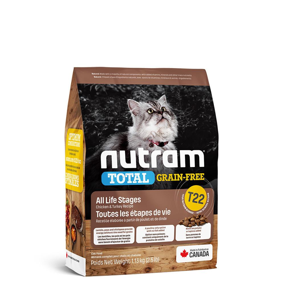 Nutram корм для взрослых кошек всех пород, беззерновой, индейка, курица и утка 1,13 кг