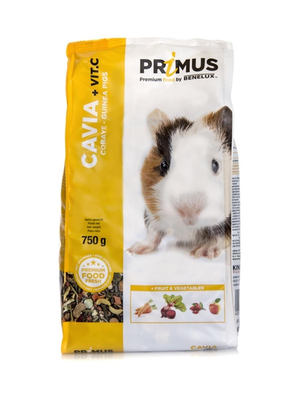 Benelux корма Корм для морских свинок с Витамином С Премиум (Primus cavie + vit c. Premium) 32513 (PRIMUS CAVIA 750G) 32513.., 0,750 кг, 30008