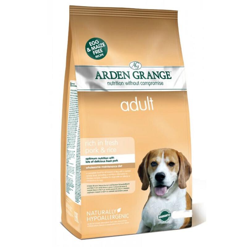 Arden Grange корм для взрослых собак всех пород, свинина и рис 12 кг
