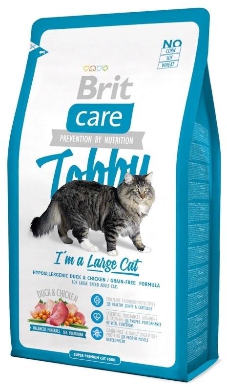 Brit Care корм для взрослых кошек крупных пород, беззерновой, гипоаллергенный 2 кг