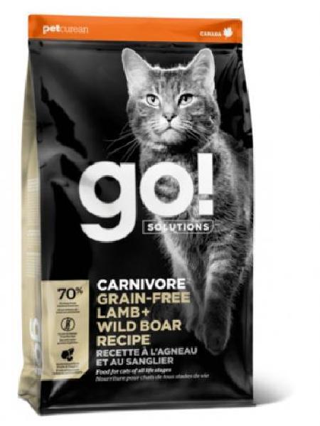 GO! корм для котят и взрослых кошек всех пород, беззерновой, ягненок и мясо дикого кабана 1,4 кг