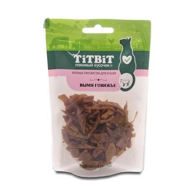 Titbit Вымя говяжье лакомство для кошек 50 гр