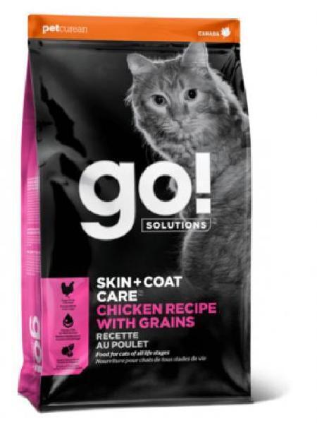 GO! корм для котят и взрослых кошек всех пород, для кожи и шерсти, цельная курица, фрукты и овощи 1,36 кг