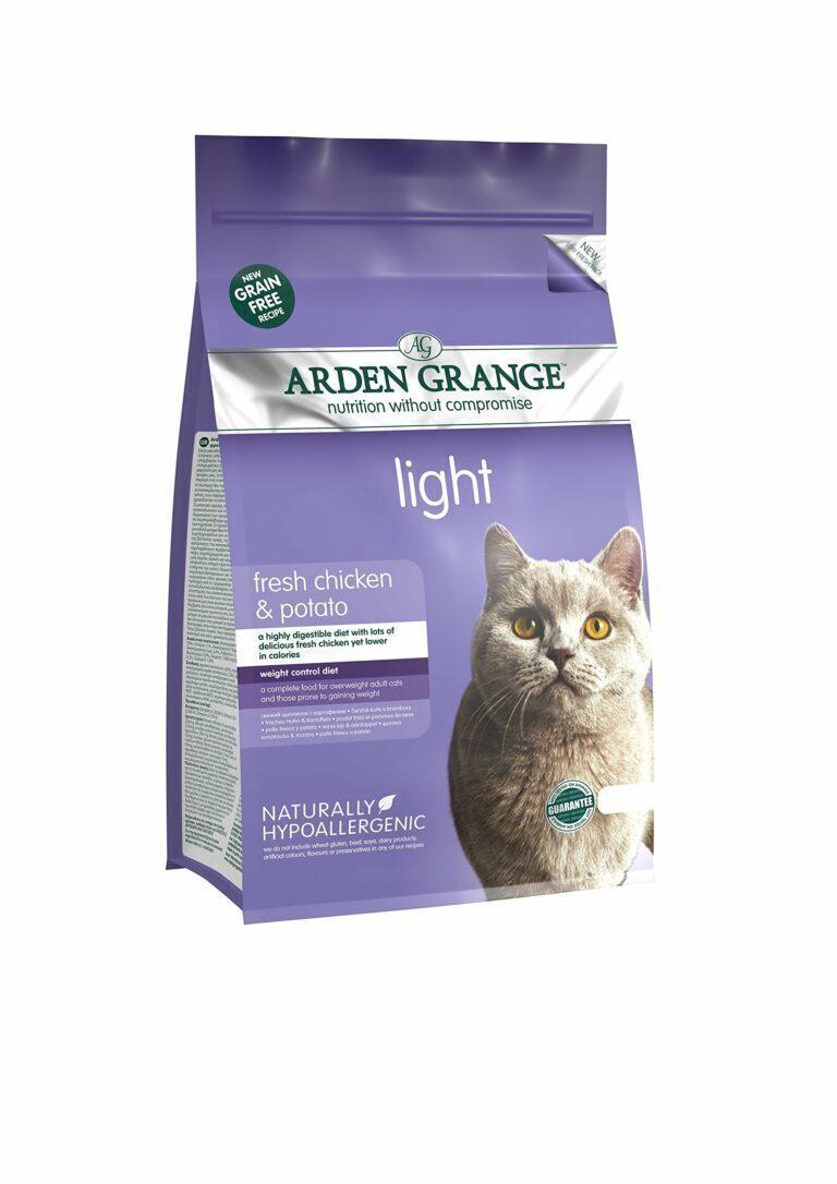 Arden Grange корм для взрослых кошек всех пород, контроль веса, курица 2 кг