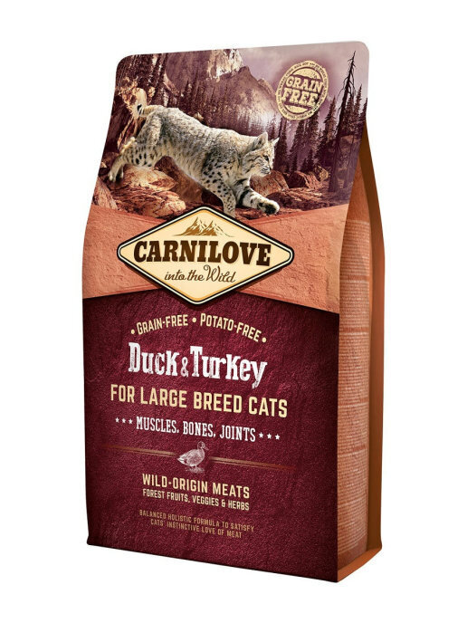 Carnilove 2кг Duck & Turkey for Large Breed Cats дк крупных пород утка и индейка