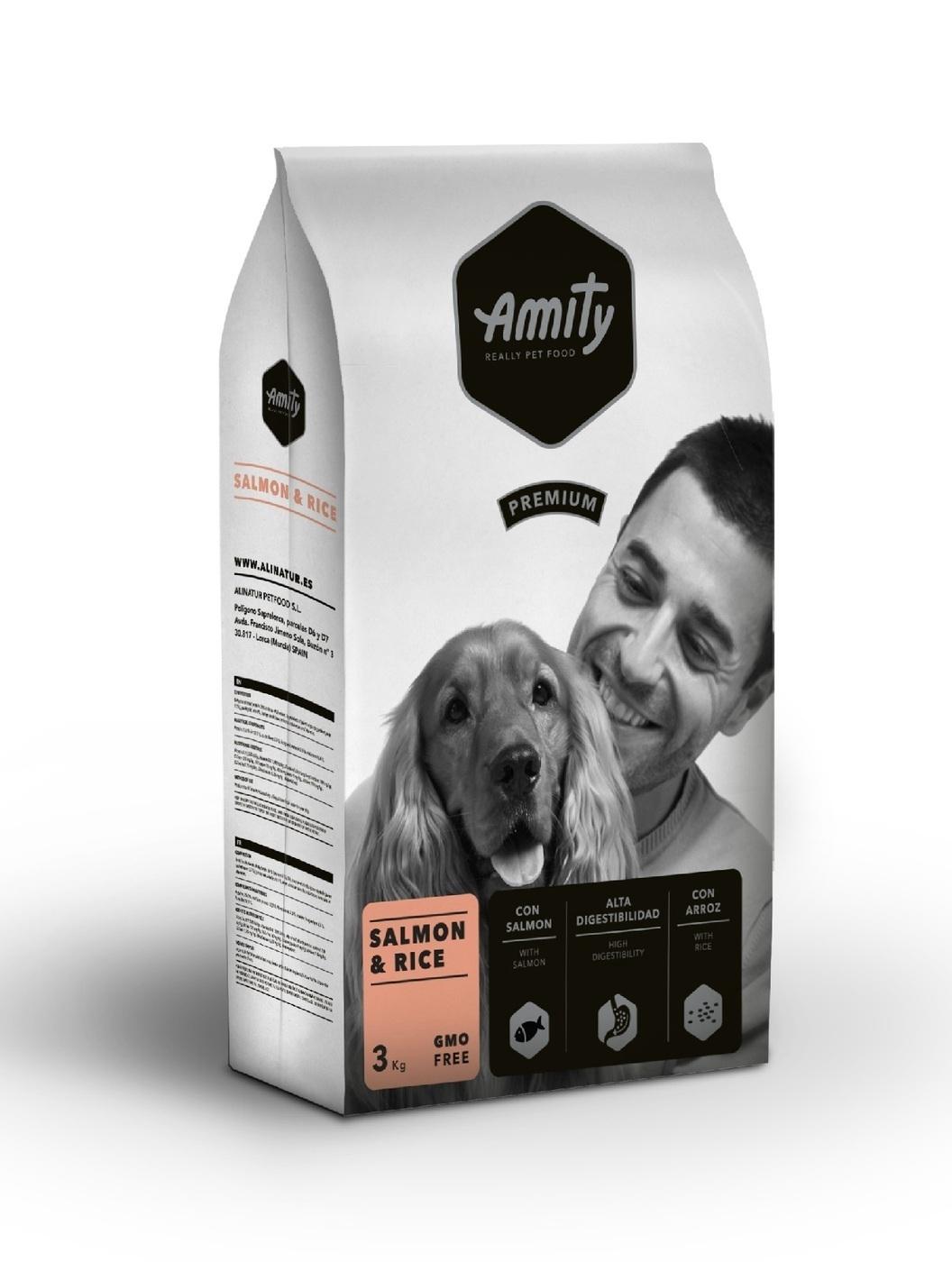 Amity Premium salmon&rice корм для собак Лосось 3кг