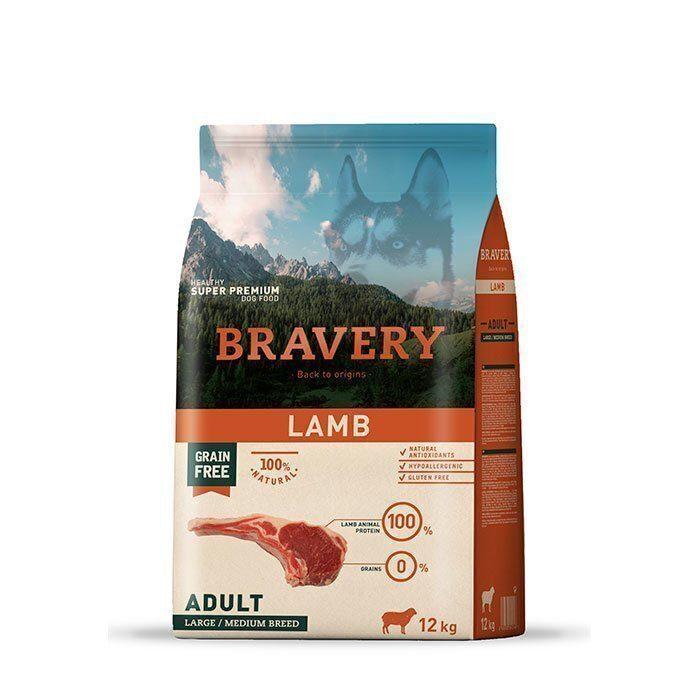 Bravery lamb adult large/medium breeds корм для собак Крупных и Средних пород Ягненок 12кг