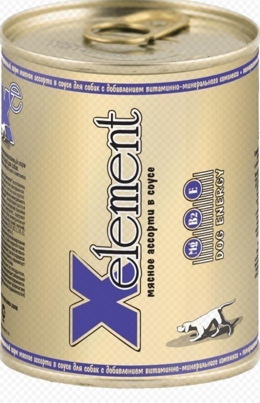 конс. X-Element 340г мясное ассорти в соусе (124)