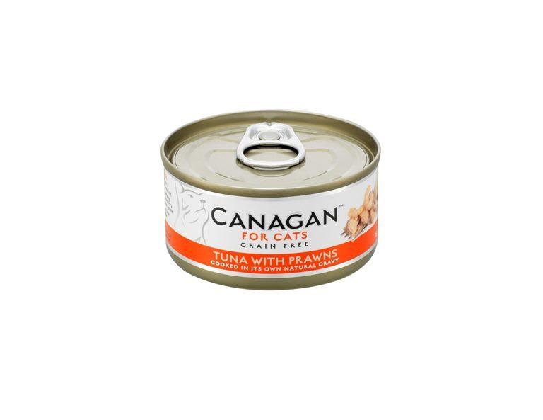 Canagan влажный корм для взрослых кошек всех пород, беззерновой, тунец и креветки 75 гр