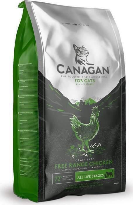 Canagan корм для взрослых кошек всех пород, беззерновой, цыпленок 4 кг