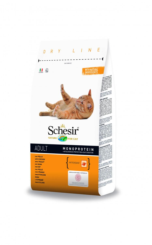 Schesir корм для взрослых кошек всех пород с курицей 400 гр