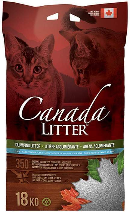 Canada Litter Канадский комкующийся наполнитель Запах на Замке, аромат детской присыпки (Scoopable Litter), 18,000 кг, 26262