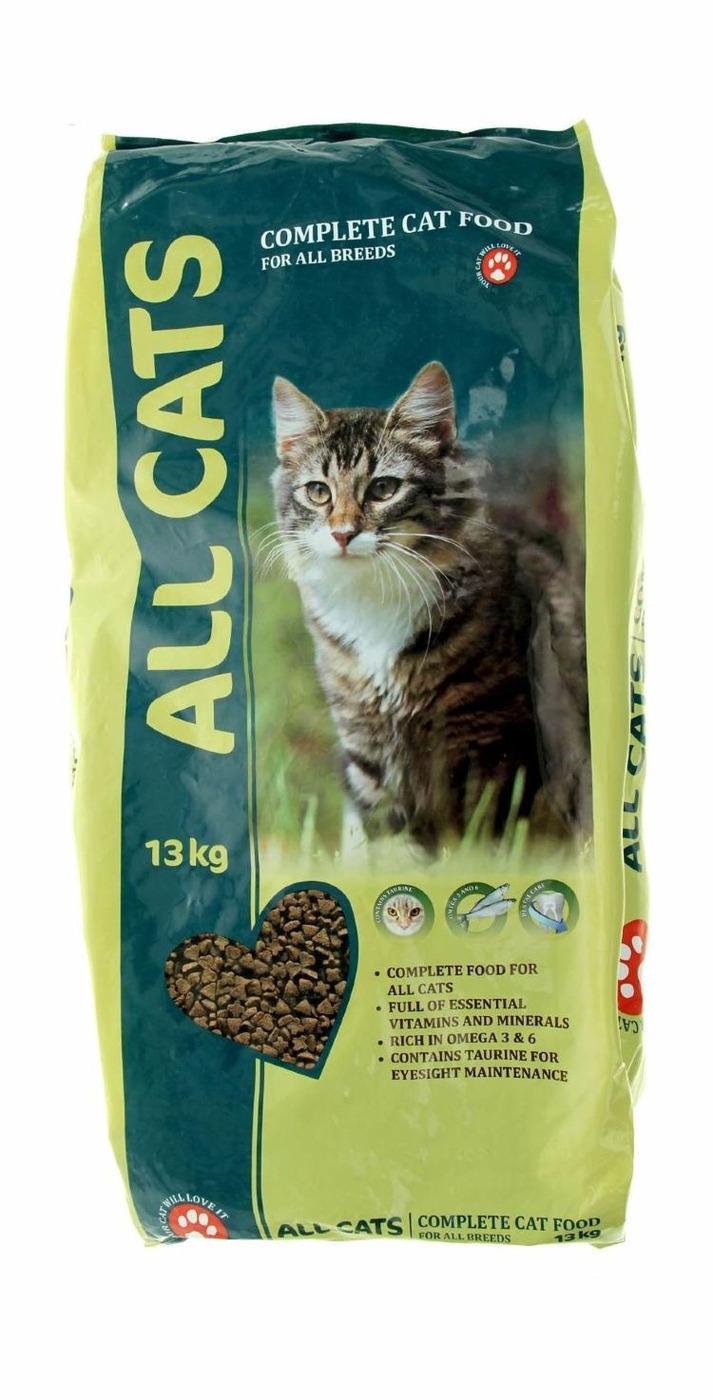 All Cats корм для взрослых кошек всех пород 13 кг