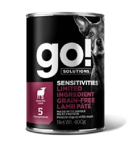 GO! влажный корм для собак, беззерновой, с чувствительным пищеварением, с ягненком 400 гр