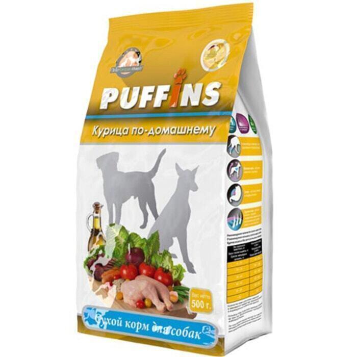 Puffins сухой корм для собак 500гр Курица по-домашнему 116