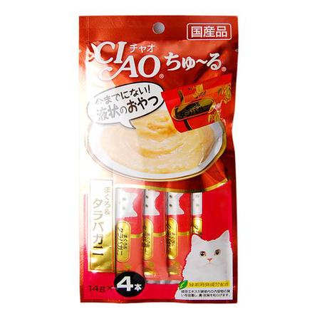 CIAO лакомство для кошек, королевский краб и желтоперый тунец 56 гр