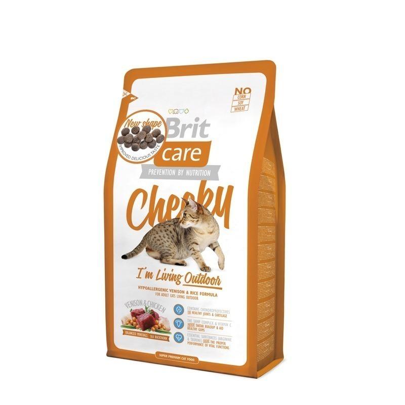 Brit Care корм для взрослых активных кошек всех пород, оленина и рис 7 кг