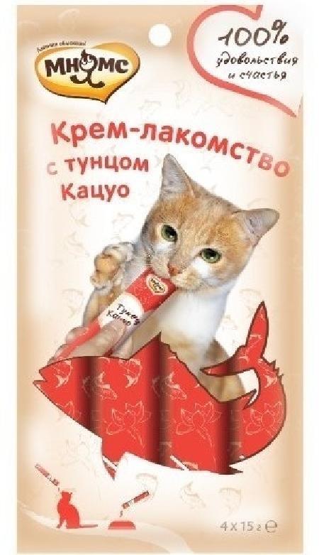 Мнямс крем-лакомство для кошек, с тунцом кацуо 15 гр, 3100100830